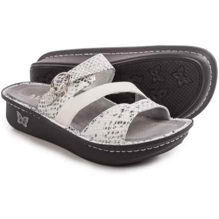 Alegria Colette Sandals - Leather (For Women) in Posh Silver - Closeouts