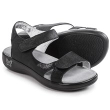 Alegria Joy Sandals - Leather (For Women) in Black Easy - Closeouts
