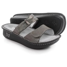 Alegria Karmen Sandals - Leather (For Women) in Pewter Easy - Closeouts