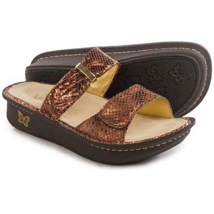 Alegria Karmen Sandals - Metallic Leather (For Women) in Riches - Closeouts
