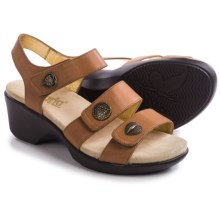 Alegria Olivia Wedge Sandals - Leather (For Women) in Cognac - Closeouts