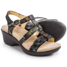Alegria Sarah Wedge Sandals - Leather (For Women) in Oh Snap - Closeouts