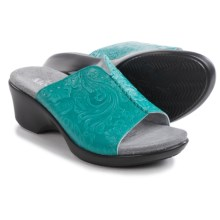 Alegria Sasha Wedge Sandals - Leather (For Women) in Dolly Turquoise - Closeouts
