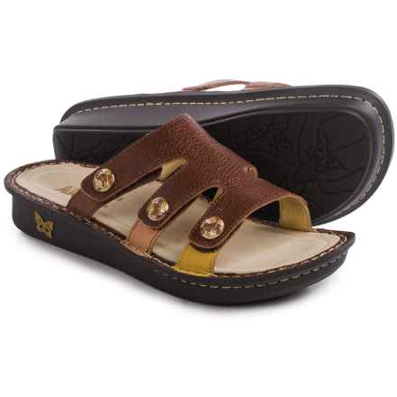 Alegria Venice Sandals - Leather (For Women) in Masonry Chocolate - Closeouts