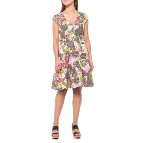 af7424df17 Alessia Pacini Made in Italy Scattered Floral Printed Shirt Dress - Cap  Sleeve (For Women