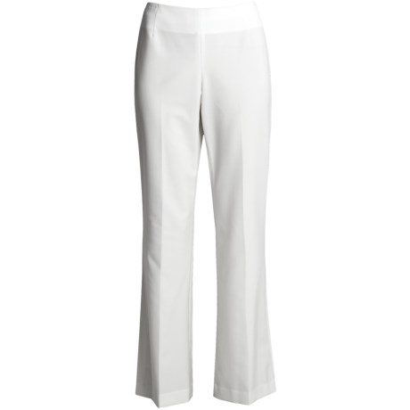 Alex New York No-Waistband Pants - Side Zip (For Women) in White
