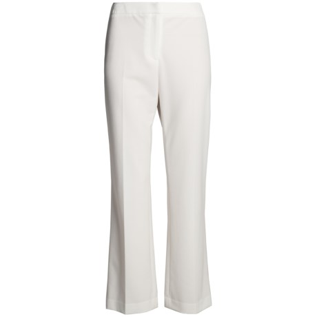 Alex New York Stretch Woven Pants - Fly Front (For Women) in White