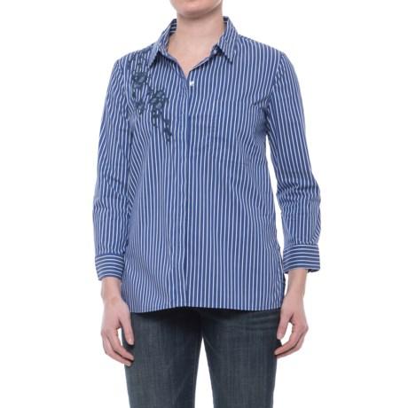Image of Alexander Jordan Embroidered Button-Down Shirt - Long Sleeve (For Women)