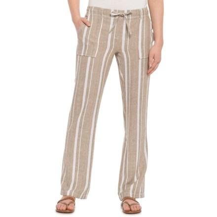 5d04ddcbbc00 Alexander Jordan Khaki-Cream Striped Drawstring Pants (For Women) in  Khaki Cream