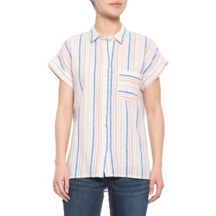 53504d13c Alexander Jordan Linen-Blend Hi-Lo Shirt - Short Sleeve (For Women)