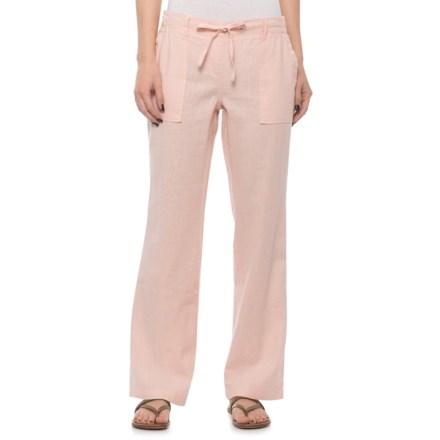 4d46cec014 Alexander Jordan Linen-Blend Striped Drawstring Pants - Blush (For Women)  in Blush