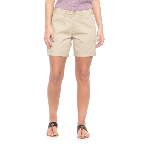 Alexander Jordan Solid Twill Shorts (For Women) in Sand
