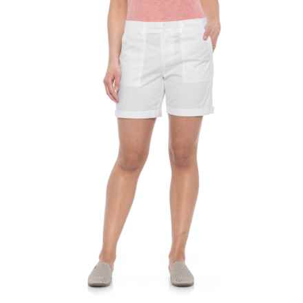 Alexander Jordan Solid Twill Shorts (For Women) in White - Closeouts
