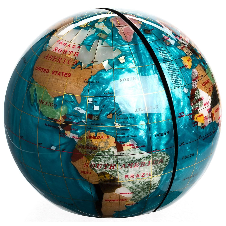 kalifano gemstone globe bookends 6 9459w