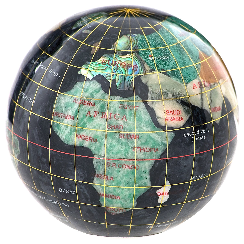 kalifano gemstone globe paperweight 3 save 59