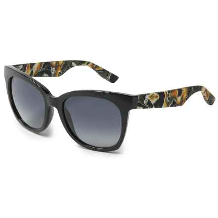 Alexander McQueen Fashion Temple Wayfarer Sunglasses (For Women) in Black Marble/Grey - Overstock
