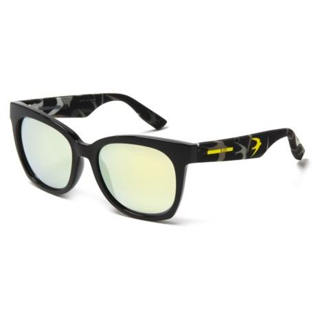Alexander McQueen Mod Wayfarer Sunglasses (For Women) in Black/Black/Yellow