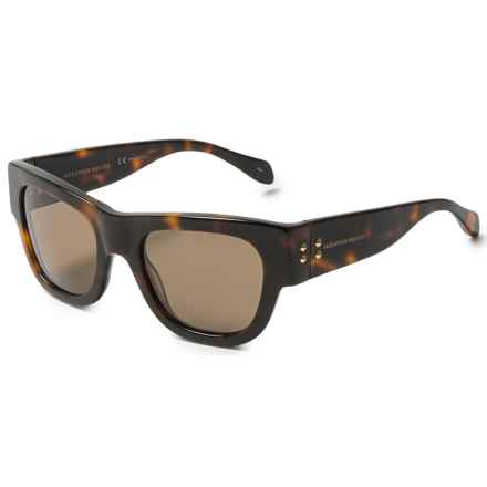 Alexander McQueen Mod Wayfarer Sunglasses (For Women) in Shiny Havana - Overstock