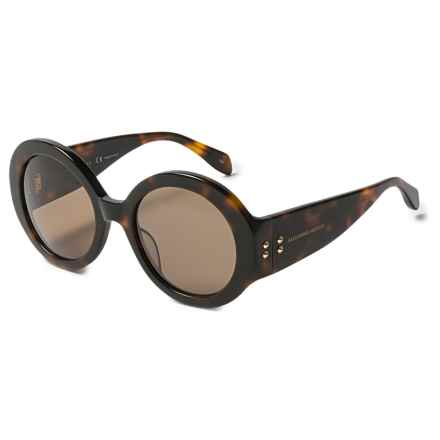 Alexander McQueen Round Tortoise Sunglasses (For Women) in Tortoise/Brown - Overstock