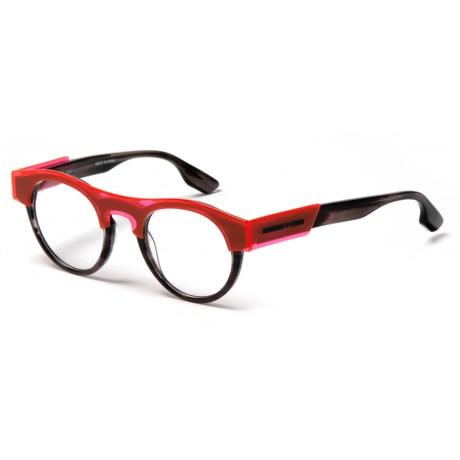 Alexander McQueen Transparent Optical Frame Glasses (For Women) in Havana