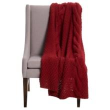 "Alicia Adams Alpaca Baby Alpaca Handmade Throw Blanket - 51x71"" in Red - Closeouts"