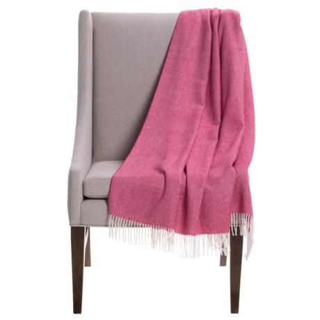 """Alicia Adams Alpaca Baby Alpaca Herringbone Throw Blanket - 51x71"""" in Virtual Pink"""