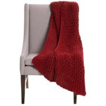 "Alicia Adams Alpaca Baby Alpaca Links Throw Blanket - 51x71"" in Red - Closeouts"