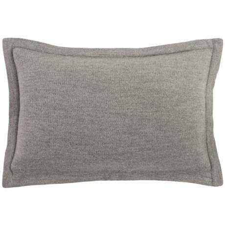 """Alicia Adams Alpaca Lumbar Pillowcase - 14x20"""" in Light Grey"""
