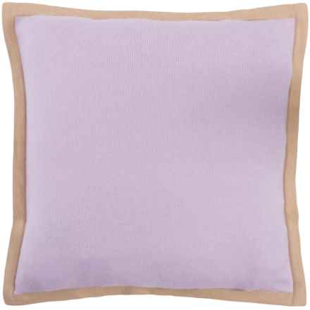 "Alicia Adams Alpaca Pillow Sham - 20x20"" in Lavender/Beige - Closeouts"