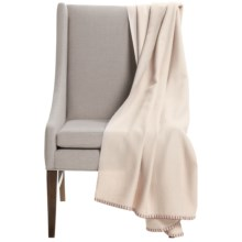 "Alicia Adams Alpaca Weekender Throw Blanket - Baby Alpaca, 51x71"" in Ivory/Burgandy - Closeouts"