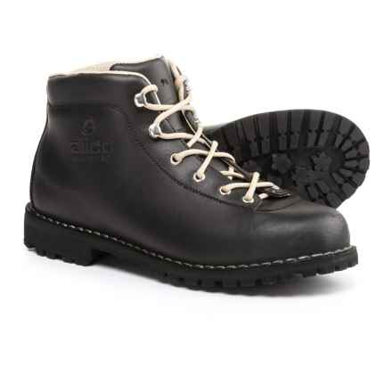 Alico Made in Italy Belluno Hiking Boots - Leather (For Men) in Black Waxed Split Leather - Closeouts