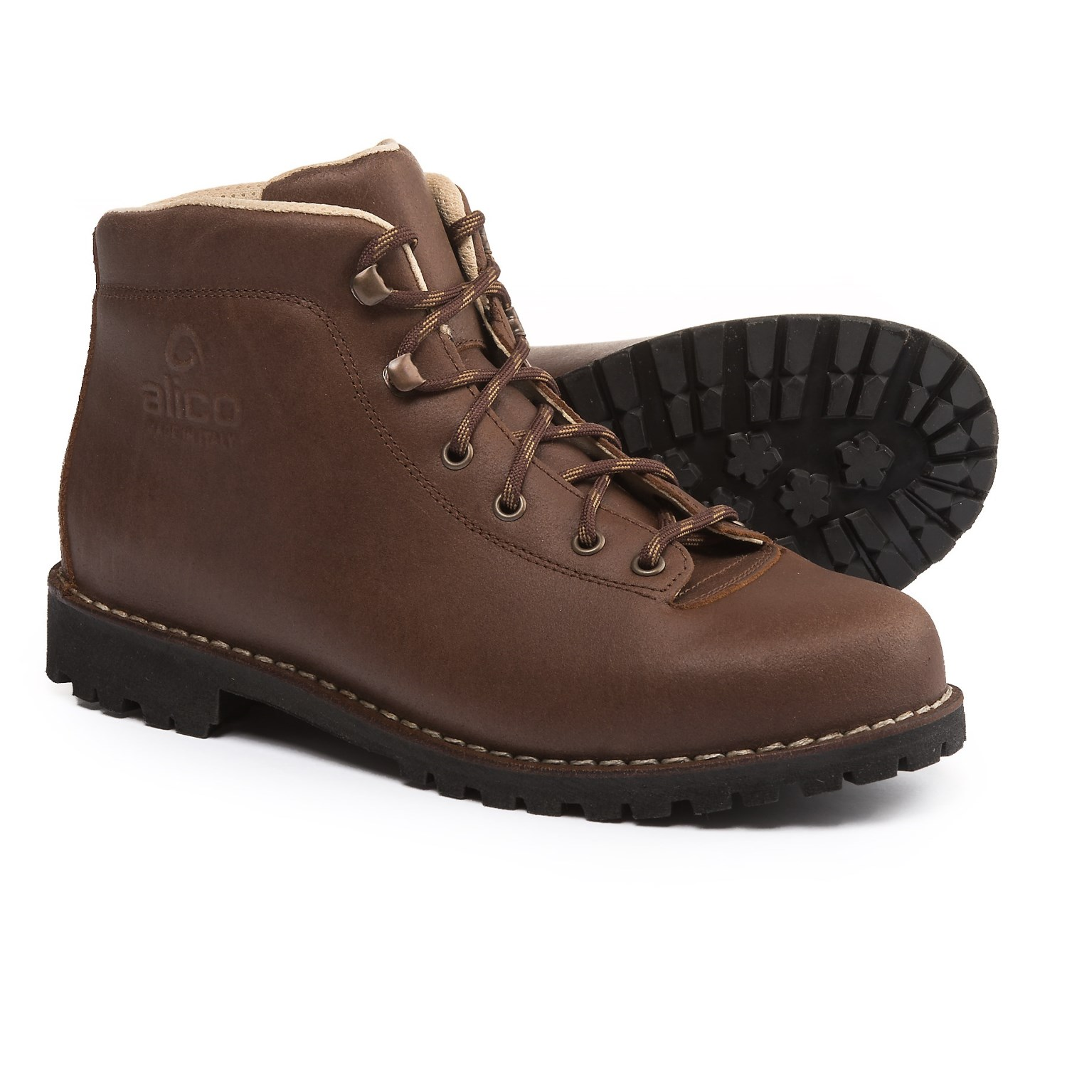 Alico Made in Italy Belluno Hiking Boots - Leather (For Men) in Dark Brown 9b244174d10