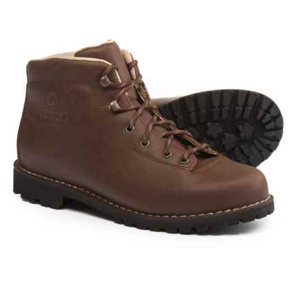 Alico Made in Italy Belluno Hiking Boots - Leather (For Men) in Dark Brown Waxed Split Leather - Closeouts