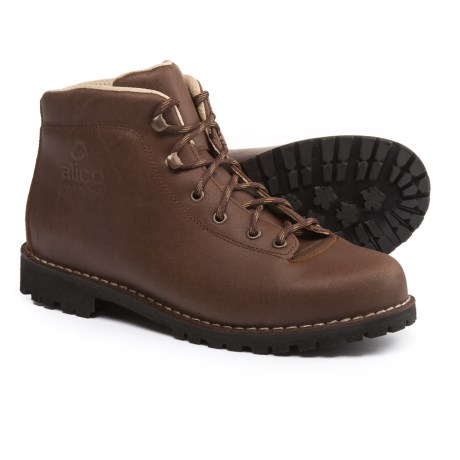 Alico Made in Italy Belluno Hiking Boots - Leather (For Men) in Dark Brown Waxed Split Leather