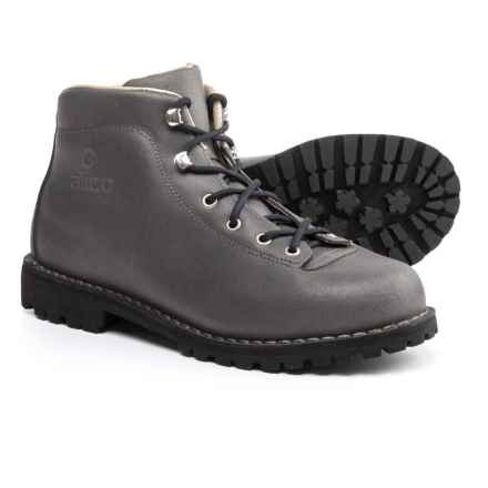Alico Made in Italy Belluno Hiking Boots - Leather (For Men) in Dark Grey Waxed Split Leather - Closeouts