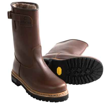 Alico Made in Italy North Cape Wellington Boots - Shearling Lining (For Men) in Brown - Closeouts