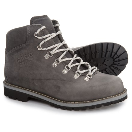 7c1ae128822 Alico Made in Italy Tahoe Hiking Boots - Leather (For Men) in Greased Grey