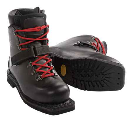 Alico Telemark Ski Boots - Mod Double - 3-Pin (For Men) in Black - Closeouts