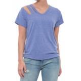 Alison Andrews Asymmetrical Shoulder-Cutout Shirt - Short Sleeve (For Women)