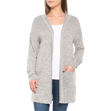 Alison Andrews Hooded Cardigan Sweater (For Women) in Grey Marled - Closeouts