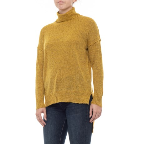 ad6148817741d2 Alison Andrews Turtleneck Asymmetrical Pullover Sweater (For Women) in  Honeycomb