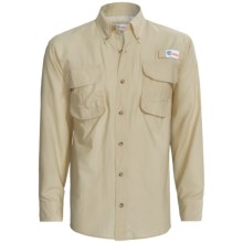 All American Fisherman High-Performance Shirt - Long Roll-Up Sleeve (For Men) in Tan - Closeouts
