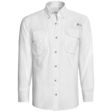 All American Fisherman High-Performance Shirt - Long Roll-Up Sleeve (For Men) in White