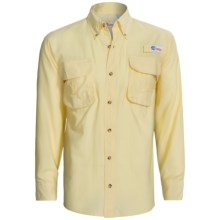 All American Fisherman High-Performance Shirt - Long Roll-Up Sleeve (For Men) in Yellow - Closeouts