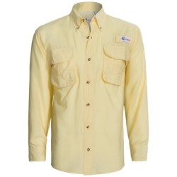 All American Fisherman High-Performance Shirt - Long Roll-Up Sleeve (For Men) in Yellow