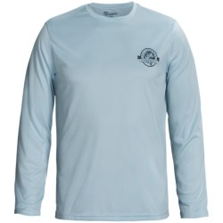 All-American Fisherman Knit Shirt - Long Sleeve (For Men) in Blue