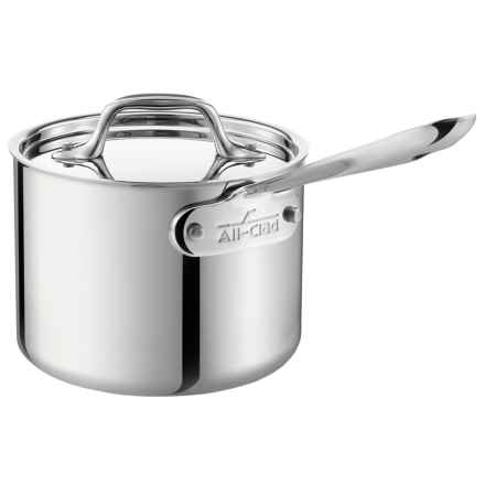 D3 Saucepan with Lid - 2 qt., Stainless Steel in Silver