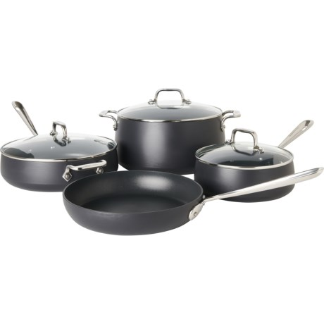 7-Piece All-Clad HA1 Hard Anodized Nonstick Cookware Set