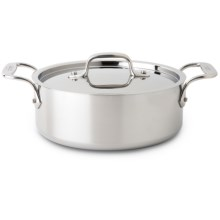 All-Clad Stainless Casserole Pan - 2.5 qt. with Lid in Stainless - Overstock