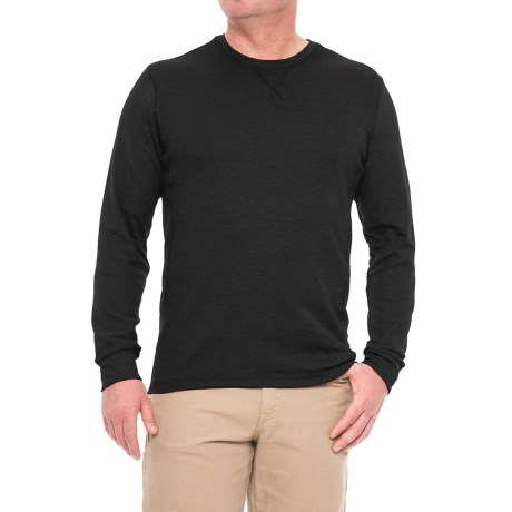 All Pro Crew Neck Work Shirt - Long Sleeve (For Men) in Black